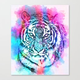 Sketched Colourful Tiger  Canvas Print