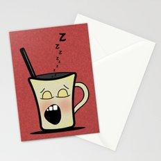 Sleepy Time Coffee  Stationery Cards