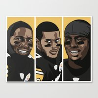 steelers Canvas Prints featuring Young Money by Thirty3
