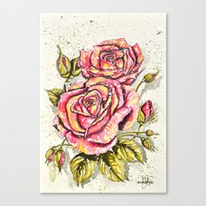 pair of roses  Canvas Print