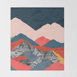 Graphic Mountains X Throw Blanket