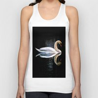swan Tank Tops featuring Swan by Ami_P