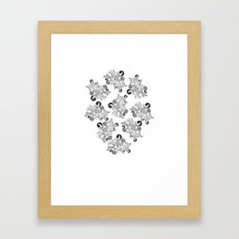 Tropical Pattern Framed Art Print