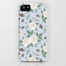 Roses, Moths and Ladybirds iPhone Case