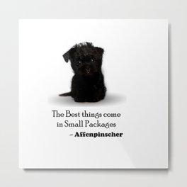 Affenpinscher Puppy Love Metal Print