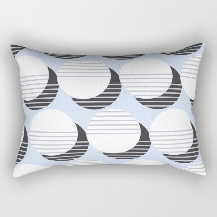Simple Circle Pattern Rectangular Pillow