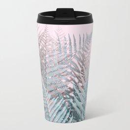 Duotone Fern Jungle on Soft Pink Travel Mug