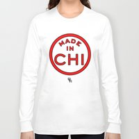 chicago bulls Long Sleeve T-shirts featuring Made in Chicago CHI BULLS by DCMBR - December Creative Group