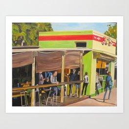 Jo's Coffee in Austin, Texas Art Print