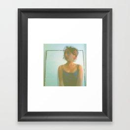 Chaos Around Her Framed Art Print