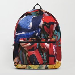 Colorful Scarves Pattern Backpack