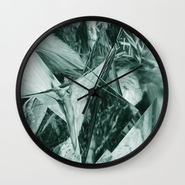 Green Abstract Eagle Nest Wall Clock
