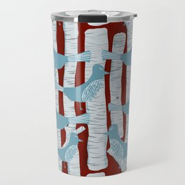 For the Birds and Birch Trees Travel Mug