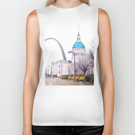 St. Louis Arch with cabs Biker Tank