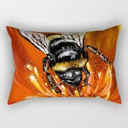Bee on flower 1 Rectangular Pillow
