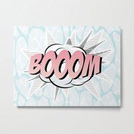 Water comics pastel boom Metal Print