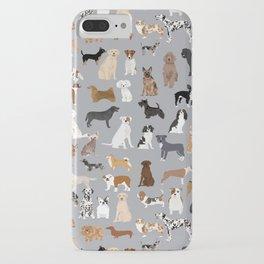 Mixed Dog lots of dogs dog lovers rescue dog art print pattern grey poodle shepherd akita corgi iPhone Case