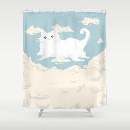Cat Cloud Shower Curtain