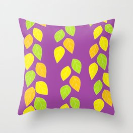 violet leaves Throw Pillow