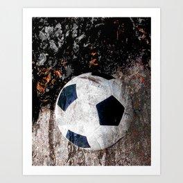 The soccer ball Art Print