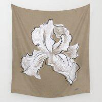 iris Wall Tapestries featuring Iris  by Mich Li