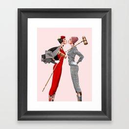 Croquet and Ink Nine Framed Art Print