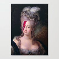 marie antoinette Canvas Prints featuring Marie Antoinette by lapinette