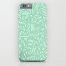 Geo Lines Mint Slim Case iPhone 6s