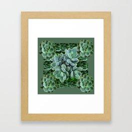 ARTISTIC GRAY-GREEN SUCCULENT ART Framed Art Print