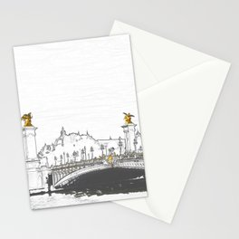 Pont Alexandre III on Seine River - Paris France Stationery Cards