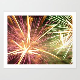 cool firework abstract art Art Print
