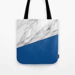 Marble and Lapis Blue Color Tote Bag