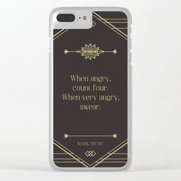 When very angry, swear. Mark Twain Clear iPhone Case