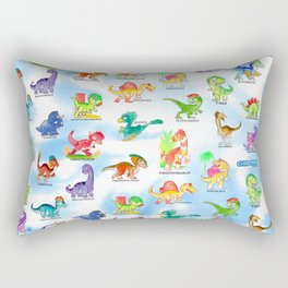 Chibidinos Watercolors Summer 2018 Rectangular Pillow