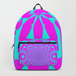 The Modern Flower Fushia & Turquoise Backpack
