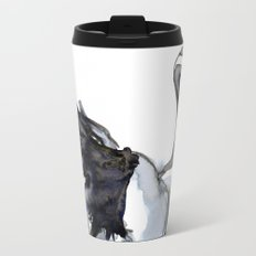 Crane, Watercolor Travel Mug