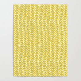 Hand Knit Yellow Poster