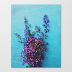 She Found Stray Flowers and Brought Them Home Canvas Print