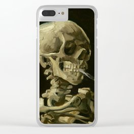 Vincent van Gogh - Skull of a Skeleton with Burning Cigarette Clear iPhone Case