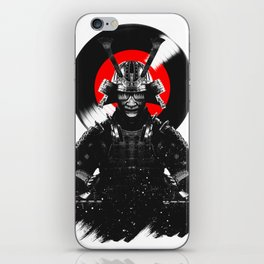 Samurai Dj Warrior iPhone Skin