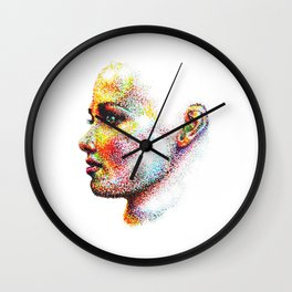 Head Pointed Out Wall Clock