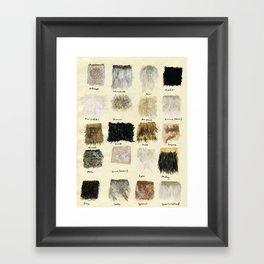 Fur Framed Art Print