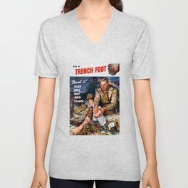 This Is Trench Foot -- Prevent It! Unisex V-Neck