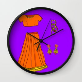 Her sari Wall Clock