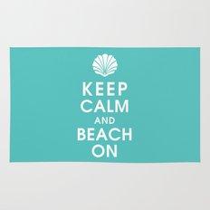 Keep Calm and Beach On Rug