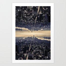 Upside Manhattan Art Print