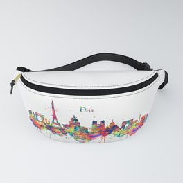 Paris Skyline Silhouette Fanny Pack