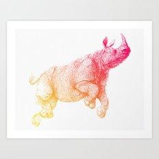 rhinoceros_004 Art Print