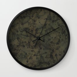 Dead fish camouflage Wall Clock