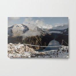 Hiking in the Austrian Alps Metal Print